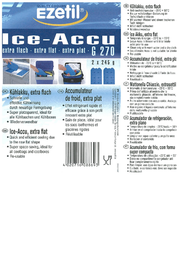 EZetil Kühlakkus G270 2x Ice Packs (L x W) 215 mm x 120 mm 886920 Leaflet