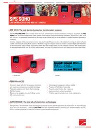 Salicru SPS.1400.SOHO Leaflet