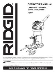 Ridgid R2400 User Manual