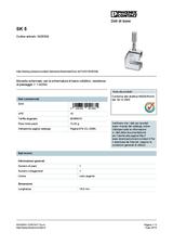 Phoenix Contact Shield connection terminal block SK 5 3025338 3025338 Data Sheet