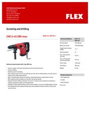 Flex CHE 5-45 SDS-max 365.912 Leaflet