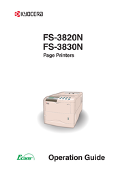 KYOCERA FS-3820N User Manual