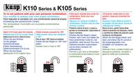 Kasp Padlock K10530GRED Green Combination K10530GRED Leaflet