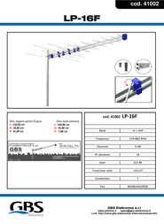 G.B.S. Elettronica LP 16 F 41002 Leaflet
