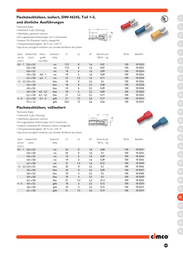 Cimco Blade receptacle Connector width: 2.8 mm Connector thickness: 0.8 mm 180 ° Partially insulated Red 180252 1 pc(s) 180252 Data Sheet