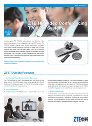 ZTE ZXV10T7002M Leaflet