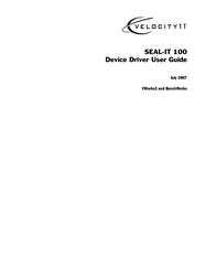 Velocity Micro SEAL-IT 100 User Manual