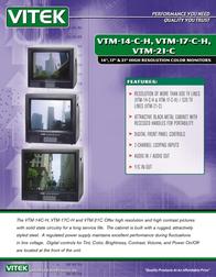 Vitek vtm-14-c-h Specification Guide