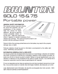 Brunton Solo 15 User Manual