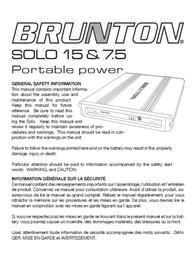 Brunton Solo 15 사용자 설명서