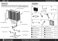 Thermalright MUX-120 Leaflet