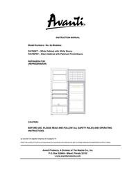 Avanti REFRIGERATOR RA759PST Manual De Usuario