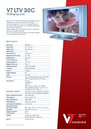 V7 LTV30C-1 Leaflet