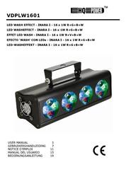 HQ Power LED wash effect INARA I 16 x 1W R+G+B+W VDPLW1601 User Manual