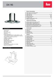 Teka DX 90 40478000 Leaflet