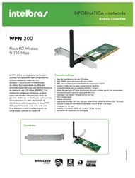 Intelbras WPN 200 4710001 Leaflet