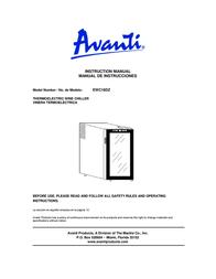 Avanti EWC18DZ Manual De Usuario