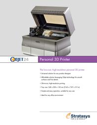 Stratasys Objet24 OBJET24 Leaflet