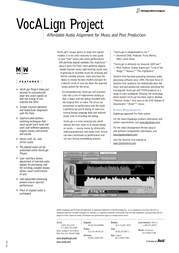 Avid VocALign Project 9910-10035-00 Leaflet