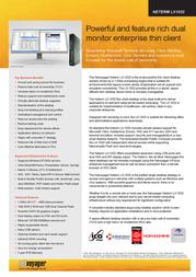Netvoyager LX1032 - Tower - 1 x C7 1.6 GHz - RAM 1 GB - no HDD - Gigabit Ethernet - Netvoyager PhoenixOS - Monitor : none LX1032 Leaflet