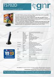 GNR TS702D Leaflet