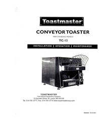 Toastmaster Marine Battery tc-13 User Manual