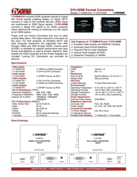 TV One 1T-HDMI-DVI Leaflet