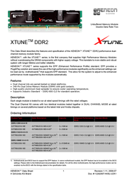 Aeneon Xtune 2048MB DDR2 1066Mhz AXT760UD00-19D-P Data Sheet