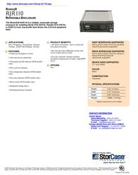 """StorCase RJR110 5.25"""" 68-Pin SCSI Ultra320 HH Receiving Frame + LP Carrier, (2) Fans, Black S21A107 Leaflet"""