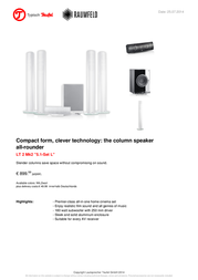Teufel LT 2 Mk2 5.1-Set L 102737001 User Manual