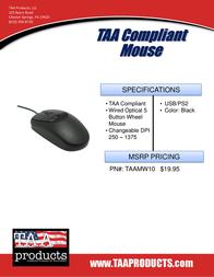 TAA Products TAAMW10 Leaflet