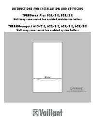Vaillant TURBOmax Plus SERIES Installation Instruction
