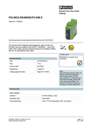 Phoenix Fiberconverter 2708313 User Manual
