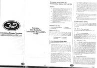 Scorpion Operating voltage continuous current connector system SP-4S-COM60A-ESC-V3-BULK User Manual
