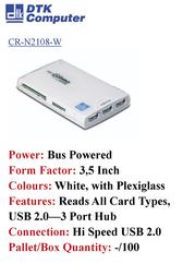 DTK Computer CR-N2108-W Leaflet