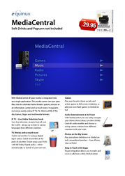 Equinux MediaCentral 2.x - Personal Pack Single EQ09031-INT Leaflet