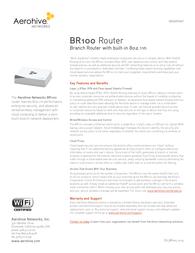 Aerohive BR100 AH-BR-100-N-W Data Sheet
