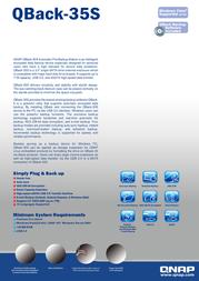 QNAP QBack-35S 540100G0035S Merkblatt