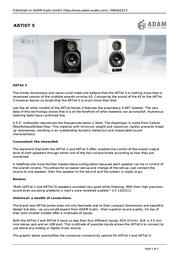 Adam Audio ARTist 5 ARTIST5WIT Leaflet