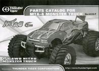 Thunder Tiger 1:8 RC model car Nitro Monster t 6228-F102 Parts Catalog