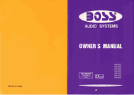 BOSS ava 550 User Manual