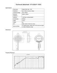 Kepo KP1838SP1-5830 miniature speaker 8 Ω, 900 Hz ± 20 % KP1838SP1-5830 Data Sheet