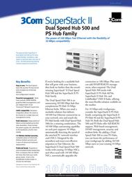 3com SuperStack® II Dual Speed Hub 500 12-Port 3C16610-ME Data Sheet