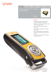 iRiver T10 1 GB Bright Orange 3T107A-EUOYX1 Leaflet