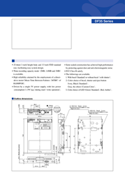 "Alps Electronics 3.5"" FDD DF35 DF354148F Leaflet"