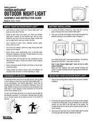 Maxsa Battery-powered Night-light Owner's Manual