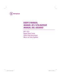 Westinghouse Digital Electronics DPF-1021 User Manual