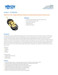 Tripp Lite TLM825GF Safety Power Strip TLM825GF User Manual