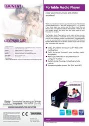 Eminent EM7063 Portable Media Player EM7063 Leaflet