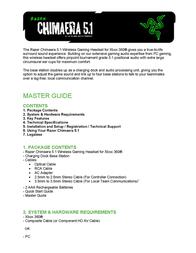 Razer Chimaera 5.1 User Manual